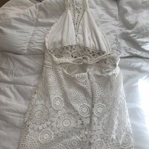 White crotchet summer dress